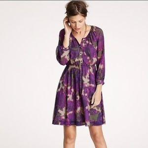 J Crew Purple Watercolor Dress